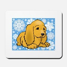 Holiday Cocker Spaniel Mousepad