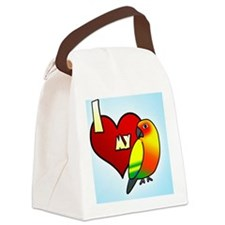 iheartmy_sunconure_ornament Canvas Lunch Bag