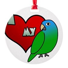 iheartmy_bluecrown_blk Ornament