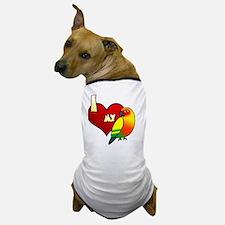 iheartmy_sunconure_blk Dog T-Shirt