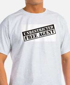 Unrestricted Free Agent Ash Grey T-Shirt
