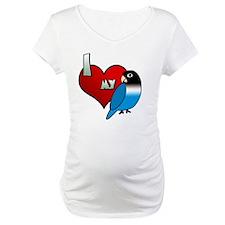 iheartmy_blackmask_blue Shirt