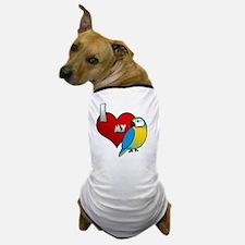 iheartmy_blueandgold Dog T-Shirt