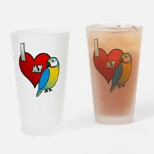 iheartmy_blueandgold Drinking Glass