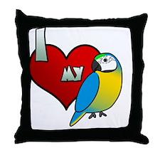 iheartmy_blueandgold Throw Pillow