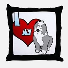iheartmy_oes_blk Throw Pillow