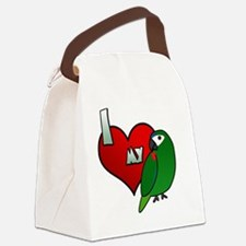 iheartmy_hahns_blk Canvas Lunch Bag