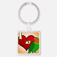 iheartmy_fischers_ornament Square Keychain