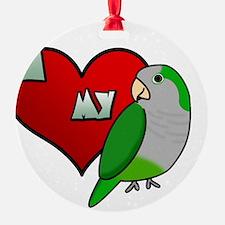 iheartmy_quaker_blk Ornament