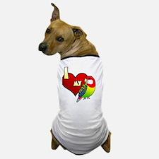 iheartmy_easternrosella_blk Dog T-Shirt
