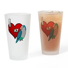 iheartmy_quakerblue_blk Drinking Glass