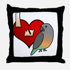 iheartmy_redbellied Throw Pillow
