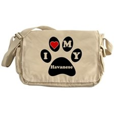 I Heart My Havanese Messenger Bag