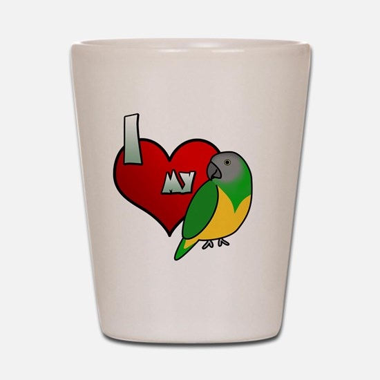 iheartmy_senegal Shot Glass