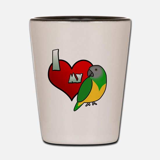 iheartmy_senegal_hat Shot Glass