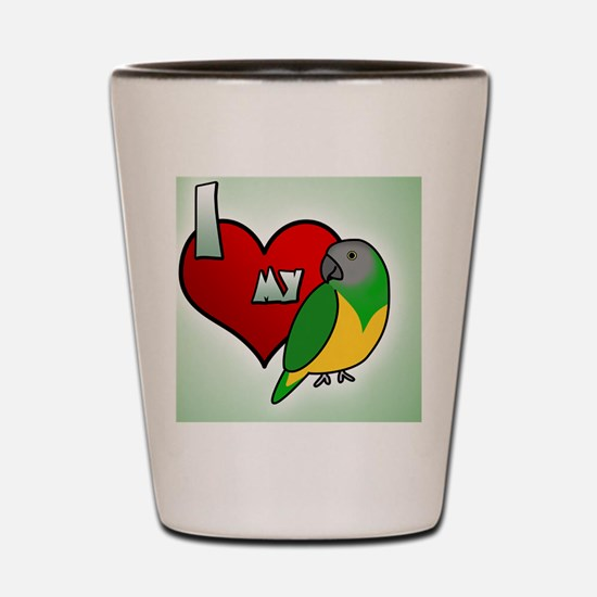iheartmy_senegal_ornament Shot Glass