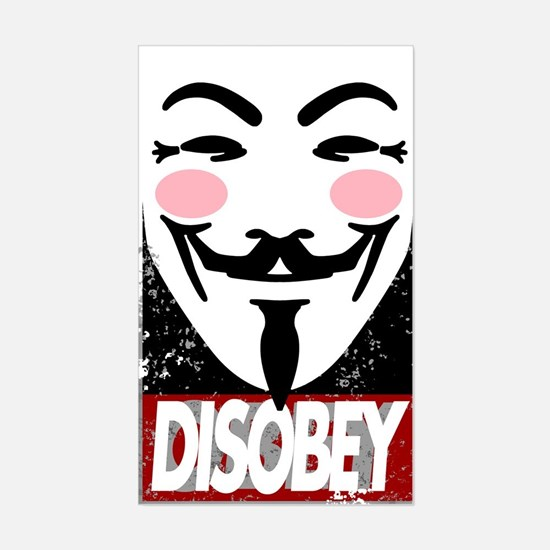 """""""Disobey the Giant"""" Sticker (Rectangle)"""