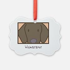 anime_weimaraner_blk Ornament