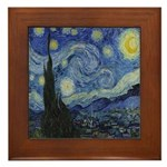 The Starry Night Framed Tile
