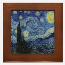 The Starry Night Framed Tile