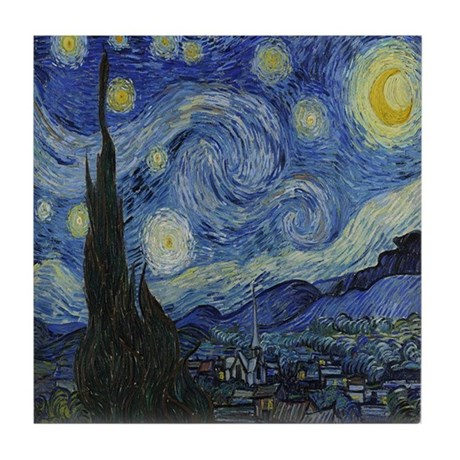 The Starry Night Tile Coaster