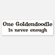 One Goldendoodle Bumper Bumper Bumper Sticker