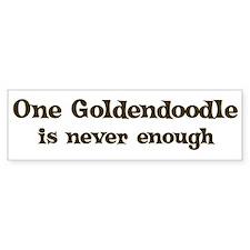 One Goldendoodle Bumper Bumper Sticker