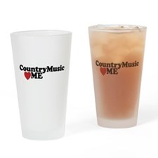 Country Music Loves Me Drinking Glass