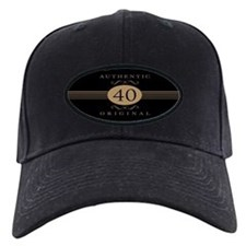 40th Birthday Humor Baseball Cap