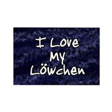 lowchen_funklove_oval Rectangle Magnet