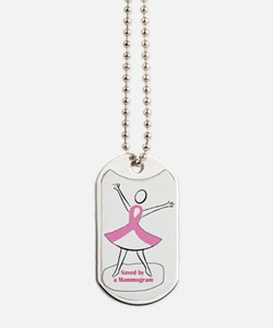 Saved by a Mammogram Dog Tags