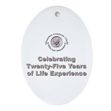 Quarter Century Oval Ornament