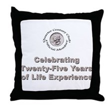 Quarter Century Throw Pillow