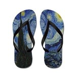 The Starry Night Flip Flops