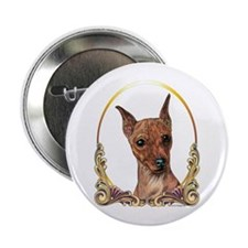 Red Min Pin Christmas/Holiday Button