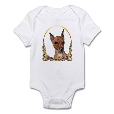 Red Min Pin Christmas/Holiday Infant Bodysuit
