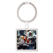 clownfish_tile Square Keychain