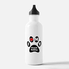 I Heart My French Bulldog Water Bottle