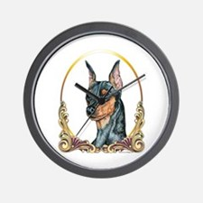 Miniature Pinscher Holiday/Xmas Wall Clock