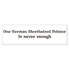 One German Shorthaired Pointe Bumper Bumper Sticker