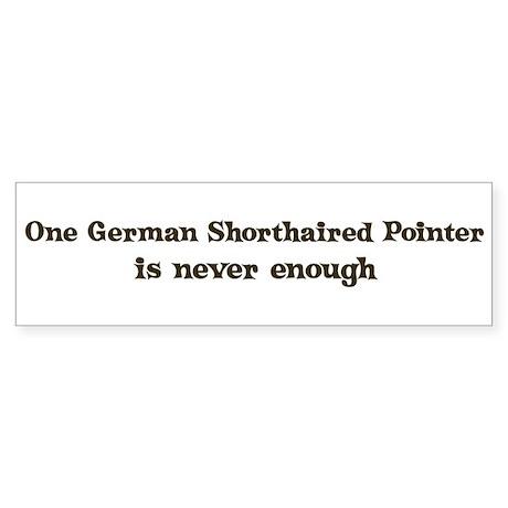 One German Shorthaired Pointe Bumper Sticker