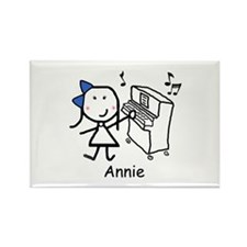 Piano - Annie Rectangle Magnet