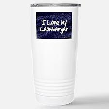 leonberger_funkylove_oval Travel Mug
