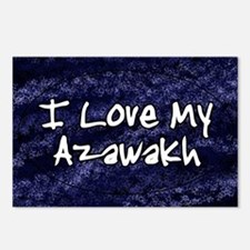 funklove_oval_azawakh Postcards (Package of 8)