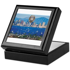 San Diego Police Skyline Keepsake Box
