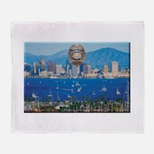 San Diego Police Skyline Throw Blanket