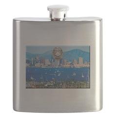 San Diego Police Skyline Flask