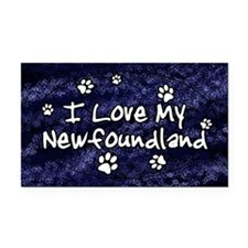 funklove_oval_newfoundland Rectangle Car Magnet