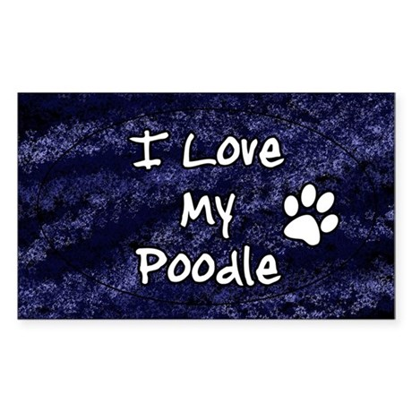funklove_oval_poodle Sticker (Rectangle)