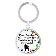 ds_poodle Round Keychain